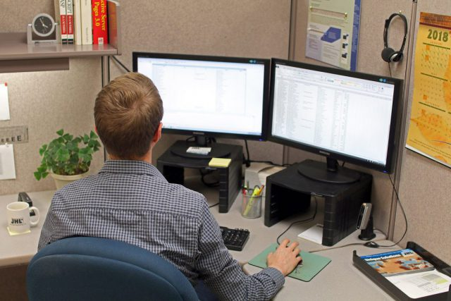 man working on data services