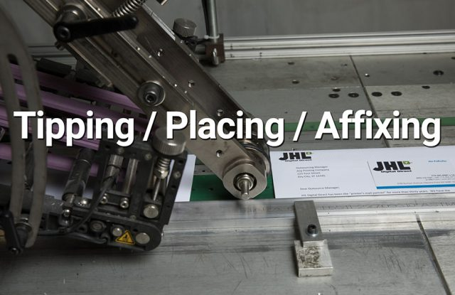 tipping placing affixing